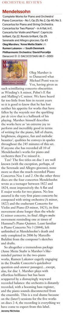 Gramophone Mendelssohn